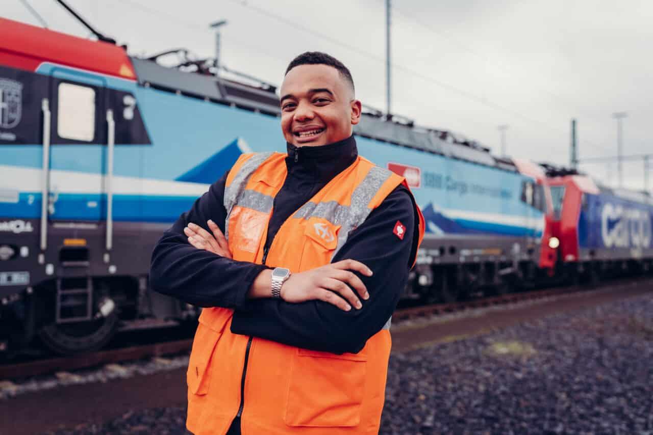 Business-Portrait Mitarbeiterportrait Eisenbahn Lokführer Wagenmeister